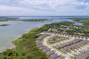 Arial view of the homes of Frisco Lakes